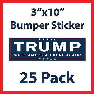 Donald Trump for President Make America Great Again Bumper Stickers - 25 Pack