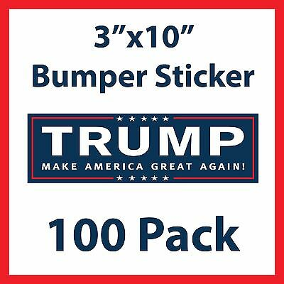 Donald Trump for President Make America Great Again Bumper Stickers - 100 Pack