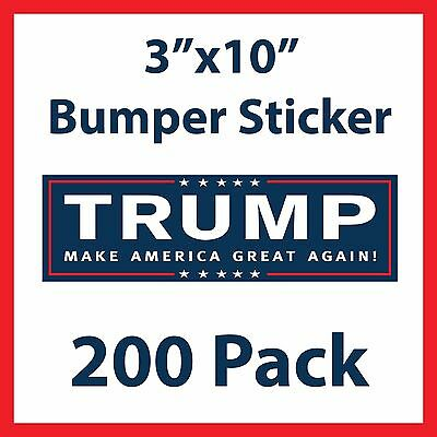 Donald Trump for President Make America Great Again Bumper Stickers - 200 Pack