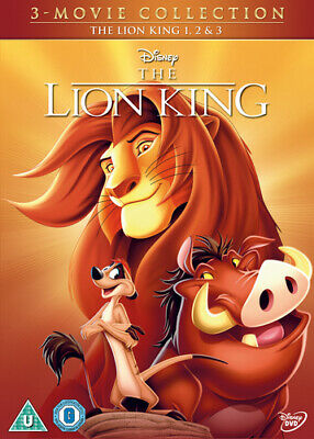 The Lion King Trilogy DVD (2014) Roger Allers cert U 3 discs Fast and FREE P & P