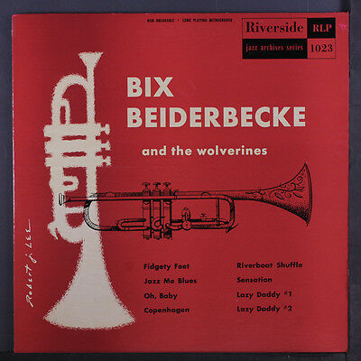 "BIX BEIDERBECKE: And The Wolverines LP (10"", tol, rubber stamp/tobc, minor ink"