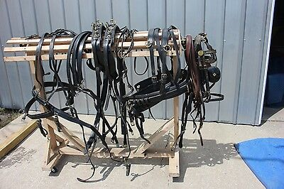 ~ 33-45 Genuine Smuckers Deluxe horse size pair horse drawn harness team set