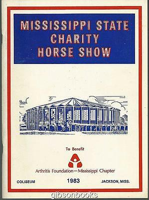 Official Program Mississippi State Charity Horse Show April 1983, Jackson, MS