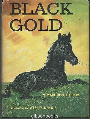 Black Gold by Marguerite Henry Illustrated by Wesley Dennis w/ Dust Jacket 1957