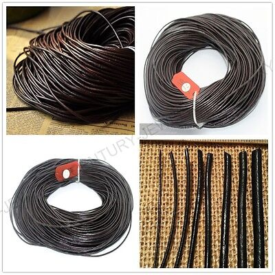 5M 100M Genuine Leather Cord Thread For Diy Bracelet Necklace Jewelry Making