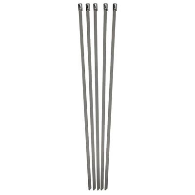 """10 Piece 11"""" Stainless Steel Cable Ties Network Cable Cord Wire Tie Strap Zip"""