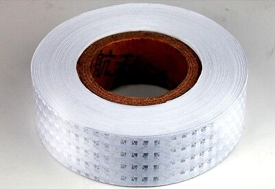 5CM*3M White Reflective Safety Warning Conspicuity Tape Film Sticker US Seller