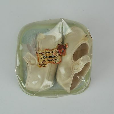 Vintage 1950s Walt Disney's Bambi Baby Crib Shoes Slippers - Size 1