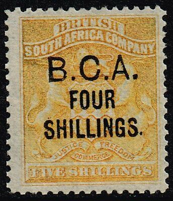 British Central Africa 1892-93 4s. on 5s. orange-yellow, MH (SG#19)