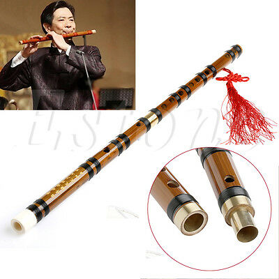 New Chinese Bamboo Flute/dizi in F Key + Green Flute Bag + Chinese Knot
