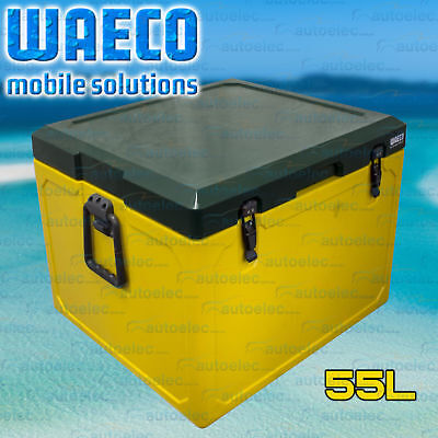 55L Litre Ice Box Waeco Cool-Ice Cooler Icebox Car Boat Fishing Yellow & Green