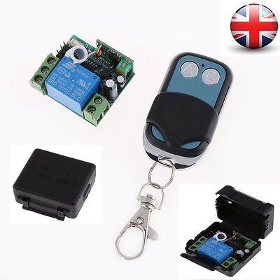 DC 12V 10A 1CH Channel Wireless RF Remote Control Switch Transmitter+Receiver UK