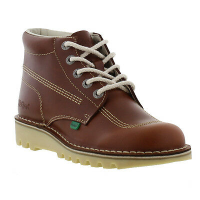 Kickers Kick Hi Mens Brown Leather Boots Size 6-11
