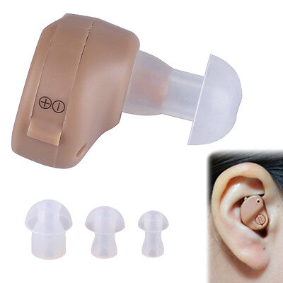 Digital Mini Hearing AIDS AID In Ear Sound Voice Amplifier Audiphone + Batteries