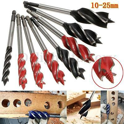 4 Cutters Wood Fast Cut Auger Drill Bit 10 to 25mm Carpenter Joiner Tools