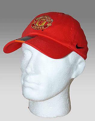New Nike Manchester United Football Club Heritage 86 Baseball Caps Red