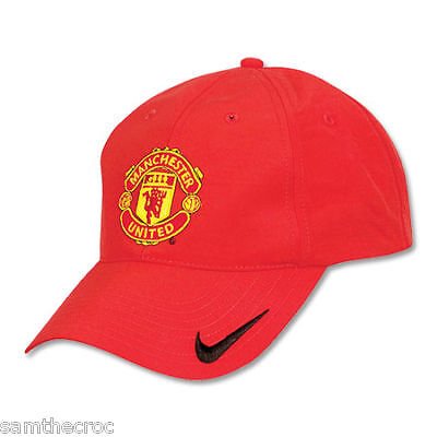 Nike Manchester United Football Club Baseball Caps Red