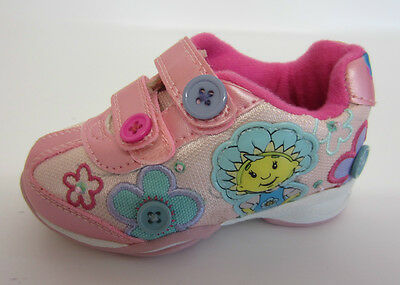 Fifi & The Flowertots Girls Gingham Pink Rip Tape Strap Trainers UK 5 & 10 (SB)