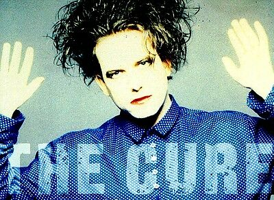 """3.25"""" THE CURE Robert Smith vinyl bumper sticker. New Wave, for car or bong."""