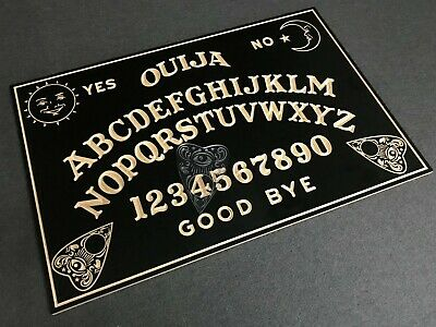 GIANT 40 Inch Solid Wooden Spirit OUIJA BOARD With Planchette. 850mm X 550mm