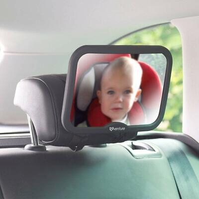 Grey Large Adjustable View Rear/baby/child Seat Car Safety Mirror Headrest Mount