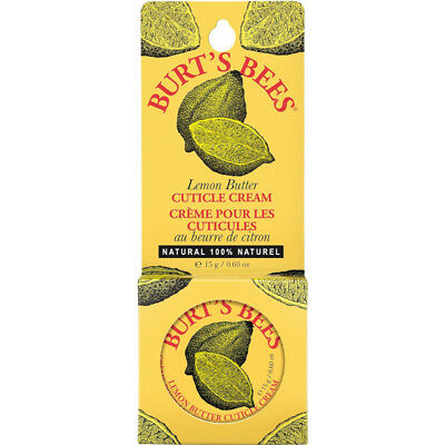 Burt's Bees Lemon Butter Cuticle Cream Tin .6Oz Each