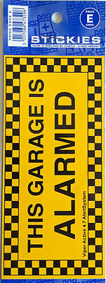 "Auto Sticker Decal Vinyl - ""This Garage is Alarmed"""