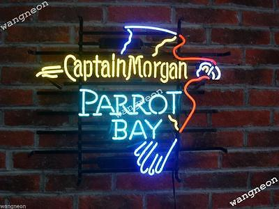 19X15 New Captain Morgan Parrot Bay Beer Bar Real Neon Light Sign FREE SHIPPING