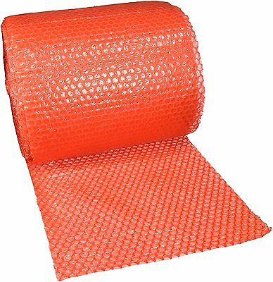 """UBOXES Small Bubble Cushioning Wrap 60' 3/16"""", Bubble Roll- Red (BUBBSMA12RED)"""