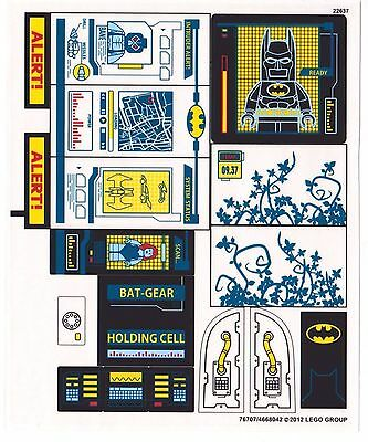 LEGO BATMAN BATCAVE Replacement STICKER SHEET for Set 6860 OEM Stickers NEW *