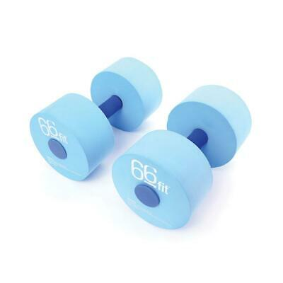 66fit Aqua Floatation Dumbbells x 2pcs - Aqua Foam Aerobic Water Pool Barbells