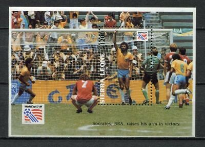 s7021) SIERRA LEONE 1993 MNH** WC Football'94 - CM Calcio S/S