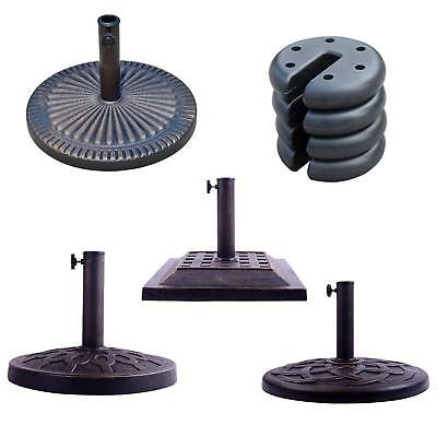 Outsunny Square Round Patio Umbrella Base Stand Gazebo Foot Leg Pole Garden