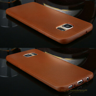 Luxury Ultrathin Leather Soft Silicone TPU Case Cover For Samsung Galaxy S7 Edge