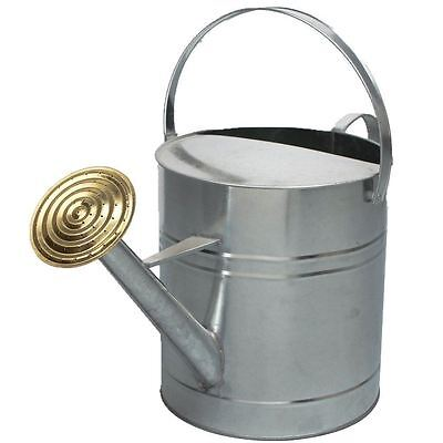 Garden Colour Galvanised Metal Steel Watering Can 9 Litre Brass Rose GALVANISED
