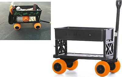 Sports Beach Carts for the Beach Dolly Kart Flatbed 4 Wheel Cart Pull Wagon