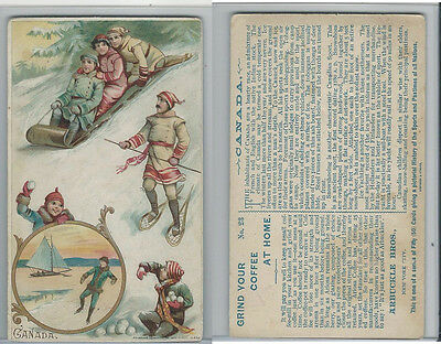 K4 Arbuckle Coffee, History of the Sports and Pastimes, 1890, #23 Canada