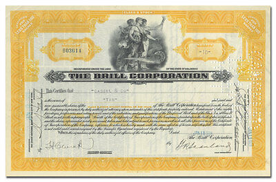 The Brill Corporation Stock Certificate (Trollies, Buses)