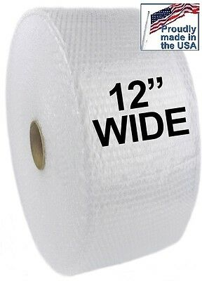 """1 Roll 3/16"""" Small Bubble Roll 12"""" Wide 350 Feet Per Roll Shipping"""