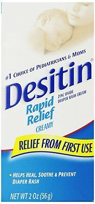 2 Pack - Desitin Rapid Relief Diaper Rash Creamy Ointment 2oz Each