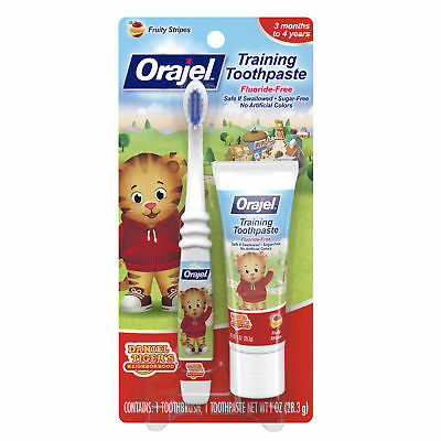 6 Pack - Orajel Daniel Tiger's Training Toothpaste Fruity Stripes 1.0oz Each