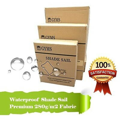 WATERPROOF SHADE SAIL 5Mx5M SQUARE IN CREAM 5x5m Extra Heavy Duty, Low Price