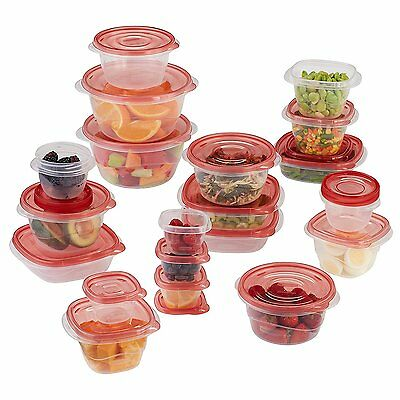 Rubbermaid TakeAlongs Assorted Food Storage Container 40 Piece Set Racer Red