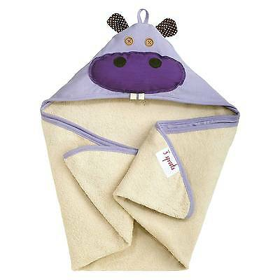 3 Sprouts Newborn/Infant Hooded Towel - Hippo