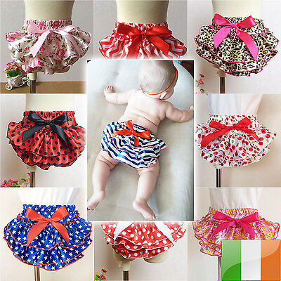 Baby Girl Ruffle Bloomer Pettiskirt Panties Diaper Cover Nappy Shorts Briefs