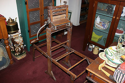 Antique Royal Clothing Wringer W/Lovell Erie Pa. Clothes Stand-Americana Decor
