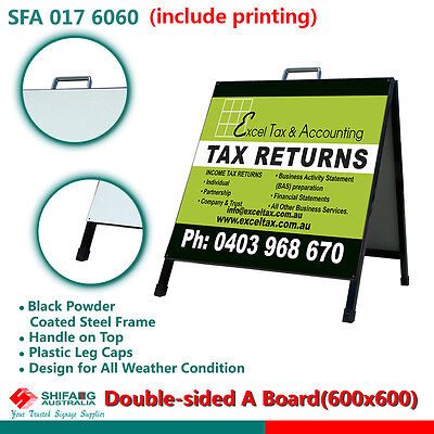 Double Sided A Frame/A Board/sign board/ sandwitch board (600x600) with printing