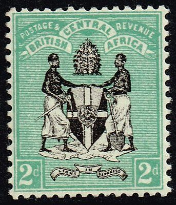 British Central Africa 1895 2d. black & green, MH (SG#22)