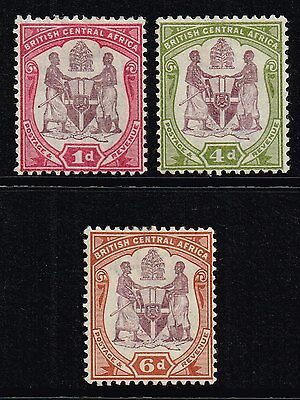 British Central Africa 1901 set to 6d., MH (SG#57d/58)