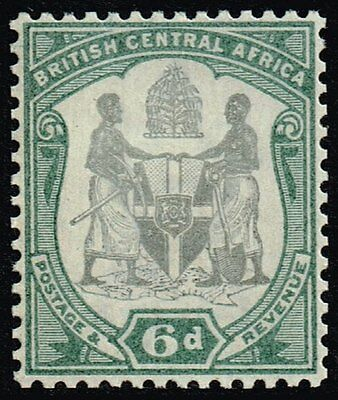 British Central Africa 1897-1900 6d. black & green, MH (SG#46)